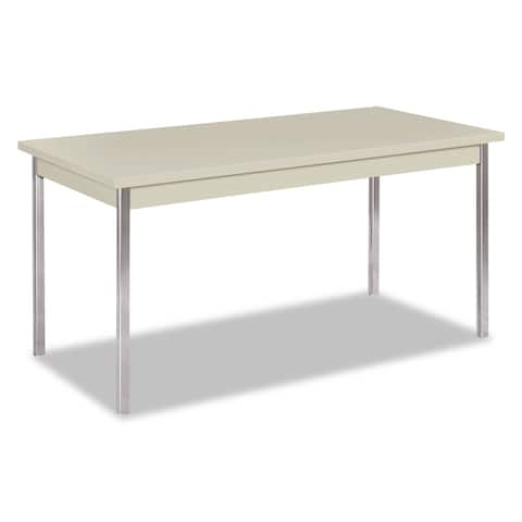 Hon Utility Table, Rectangular, 60w x 30d x 29h, Light Gray - 60 x 30 x 29