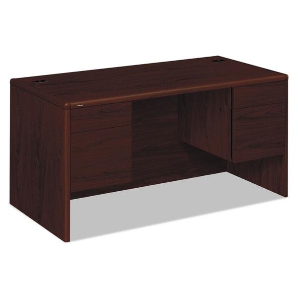 HON 10700 Series Abrasion-Resistant Double Pedestal Desk