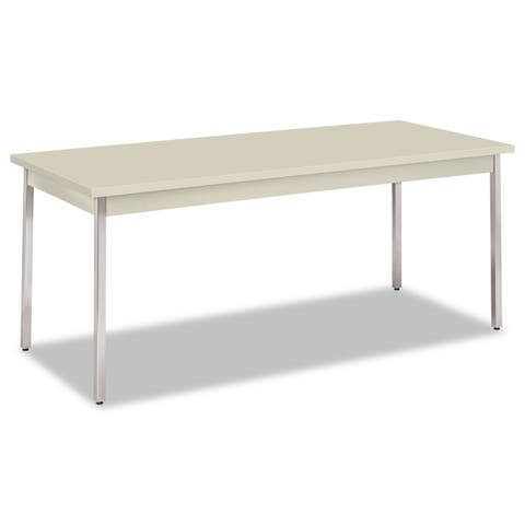 HON Utility Table, Rectangular, 72w x 30d x 29h, Light Gray - 72 x 30 x 29