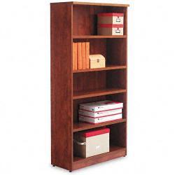 Alera Valencia Series 5-Shelf Light Brown Bookcase