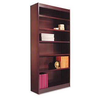 Alera Square Corner Display Bookcase with Finished Back