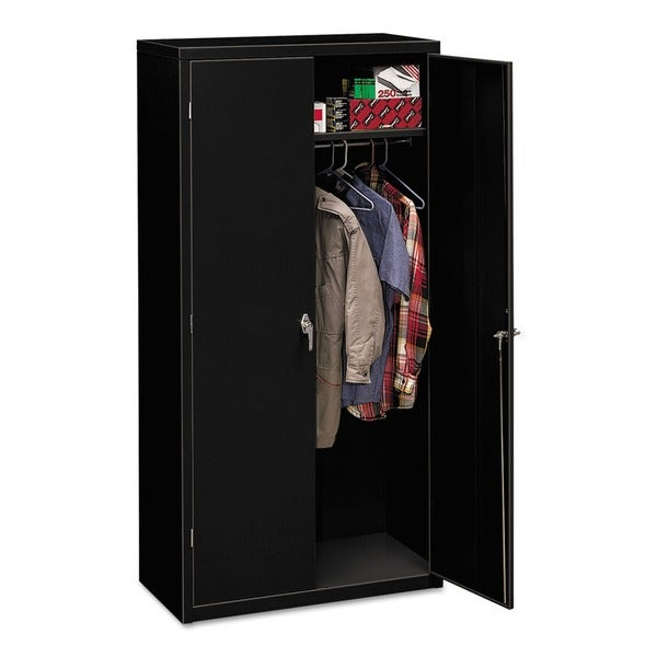 HON Assembled 72 Inch High 18 Inch Deep Storage Cabinet With Leveling Guides