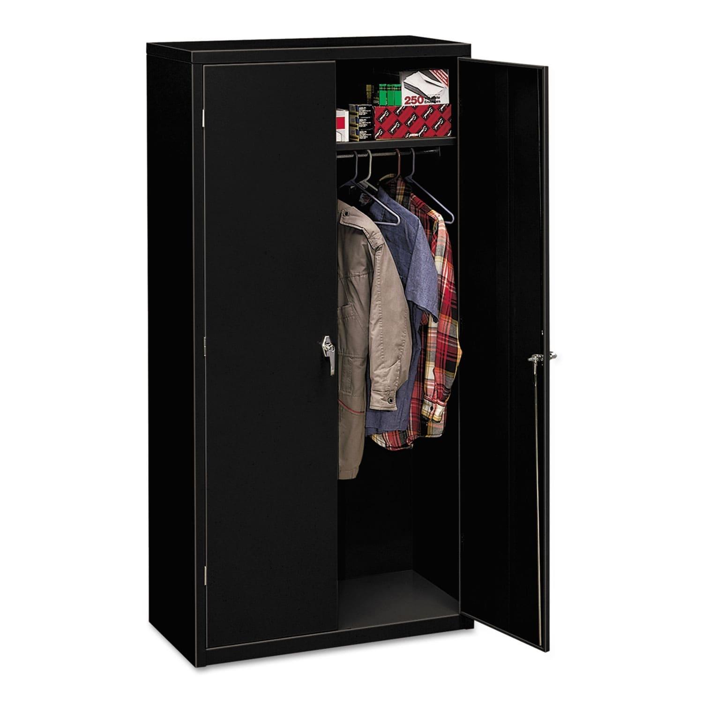 HON Assembled 72-Inch High 18-Inch Deep Storage Cabinet w...