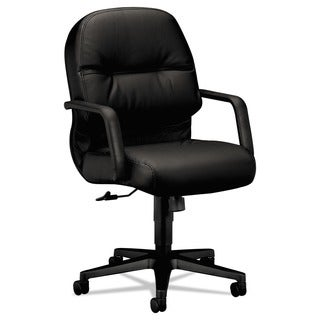 HON 2090 Pillow-Soft Series Mid Back Leather Chair