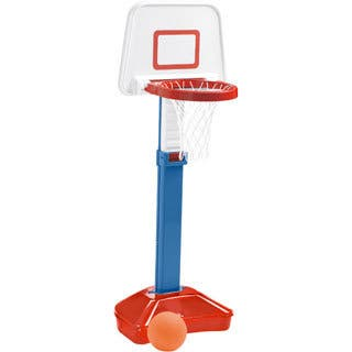 American Plastic Toys Jump 'N Slam Basketball Set - Blue/Red/White
