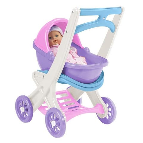 American Plastic Toys On The Go Doll Stroller