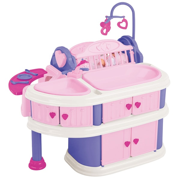 American Plastic Toys Delux Nursery Doll Care Play Set