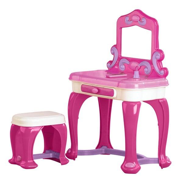 American Plastic Toys Deluxe Vanity Play Set Pink Free
