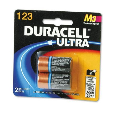 Duracell Ultra High Power 123, 3V Lithium Battery (Pack of 2)