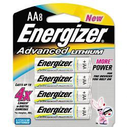 Energizer Advanced Lithium AA Batteries (Pack of 8)