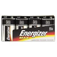 Energizer Alkaline 9V Batteries (Pack of 4)