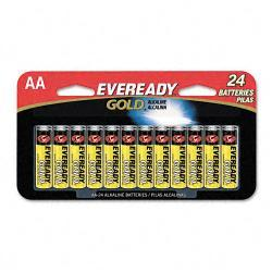 Eveready Gold Alkaline AA Batteries (Pack of 24)