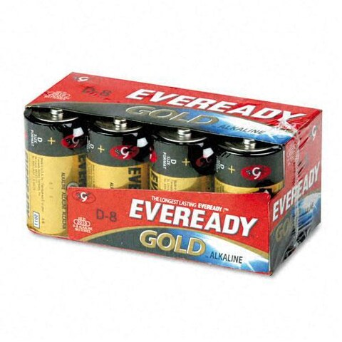 Eveready Gold Alkaline D Batteries (Pack of 8)