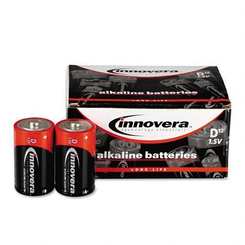 Innovera Alkaline D Batteries (Pack of 12)
