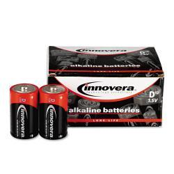 Innovera Alkaline D Batteries (Pack of 12) - Thumbnail 2