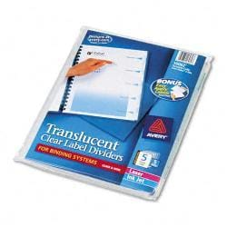 Avery Index Maker 5-Tab Set of Clear Dividers (Case of 5 Sets)