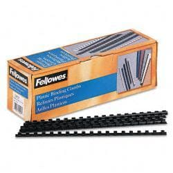 Fellowes Plastic Comb Bindings, 40-Sheet Capacity (Case of 100)