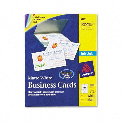 Avery Inkjet Matte Business Cards, 10 Cards per Sheet (Case of 1000 ...