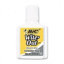 BIC Wite-Out Quick Dry Correction Fluid, 20 ml, White (Pack of 12)