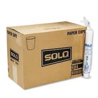 SOLO Cup Company White Paper Water Cups, 4-oz (Case of 5000)