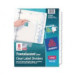 Avery Index Maker 8-TabSet of Clear Label Dividers (Pack of 5 Sets)
