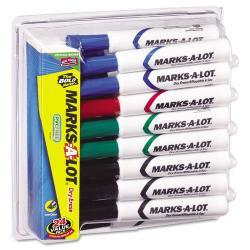Marks-A-Lot Desk Style Dry Erase Markers, Assorted Colors (Case of 24)