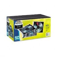 Fellowes Thin Jewel Cases, Clear/Black (Pack of 50)