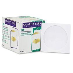 Quality Park CD/DVD Sleeves, White (Case of 250)
