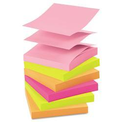 Post-it 3 x 3 Neon Color Pop-Up Refills, 100-Sheet Pads (Pack of 12)