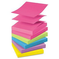 Post-it 3 x 3 Ultra Color Pop-Up Note Refills, 100-Sheet Pads (Pack of 12)
