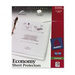 Avery Top-Load Poly Sheet Protectors, Semi-Clear, (Case of 150)
