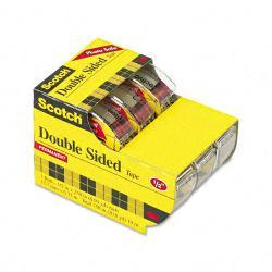 Scotch 665 Double-Sided Tape in Dispenser (Pack of 3)