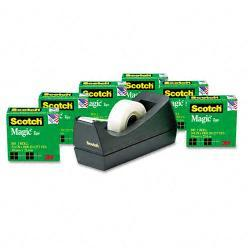 Scotch Magic Tape Value Pack with Dispenser (Case of 6 Rolls)