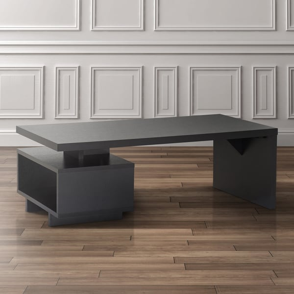 Furniture of america open cabinet coffee table free for Furniture of america inomata geometric high gloss coffee table