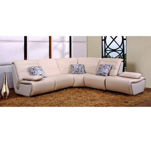 Swell Furniture Of America Leather 5 Piece Sectional Sofa Pabps2019 Chair Design Images Pabps2019Com