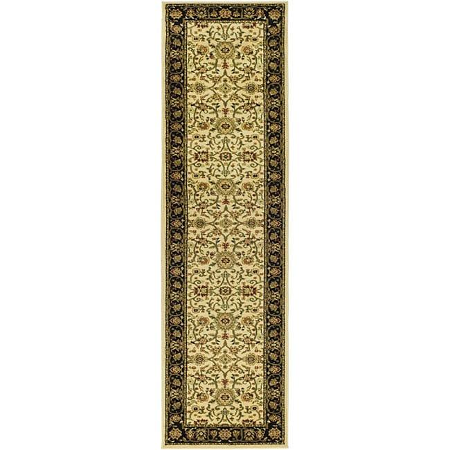 Safavieh Lyndhurst Traditional Oriental Ivory/ Black Runner (2'3 x 8')