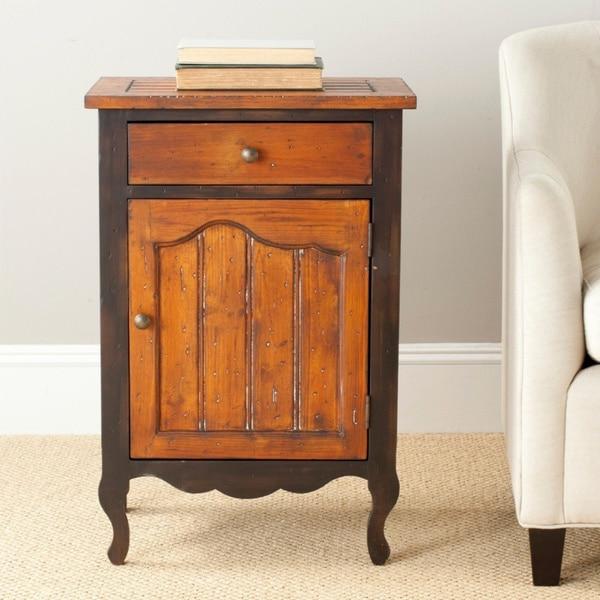 Beau Safavieh Logan Drawer Storage Cabinet   Black