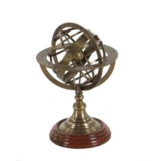 Engraved Brass Tabletop Armillary Nautical Sphere Globe