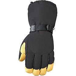 Insulated Nylon-shell Gauntlet Glove with Deerskin Leather Palm