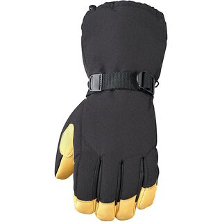 Insulated Nylon-shell Gauntlet Glove with Deerskin Leather Palm (3 options available)