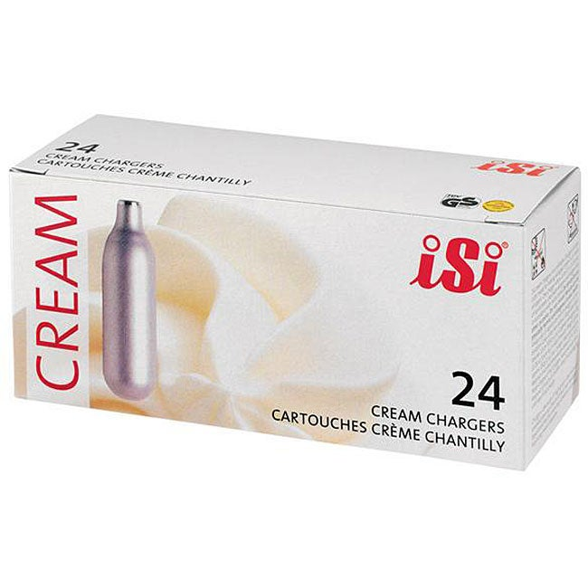 ISI North America Cream (Ivory) Chargers (Case of 24) (Me...