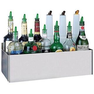 San Jamar Stainless Steel Speed Rack for Eight 1 Quart/ Liter Bottles