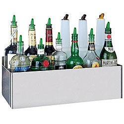 San Jamar Stainless Steel Speed Rack for Eight 1 Quart/ Liter Bottles