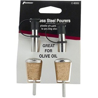 Franmara Cork and Metal Bottle Pourers (Pack of 2)