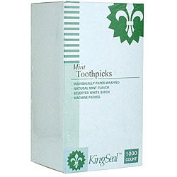 Wesco Paper Wrapped Mint Toothpicks (Case of 12000)