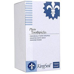 Wesco Paper Wrapped Natural Toothpicks (Case of 12000)