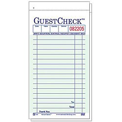 National Checking Company 3 1/2-in X 6 1/2-in Green Guest Check (Case of 50)