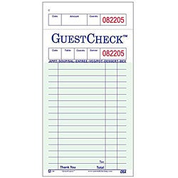 National Checking Company 3 4/10-in X 6 3/4-in Green Guest Check (Case of 50)
