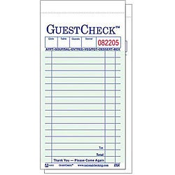 National Checking Company 3 4/10-in X 6 3/4-in Green Guest Checks (Case of 50)