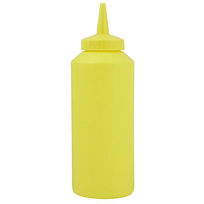 Vollrath 12 oz. Yellow Sauce Dispensers (Pack of 12)